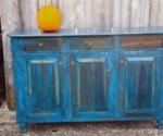 buffet in old cobalt blue w- bun feet