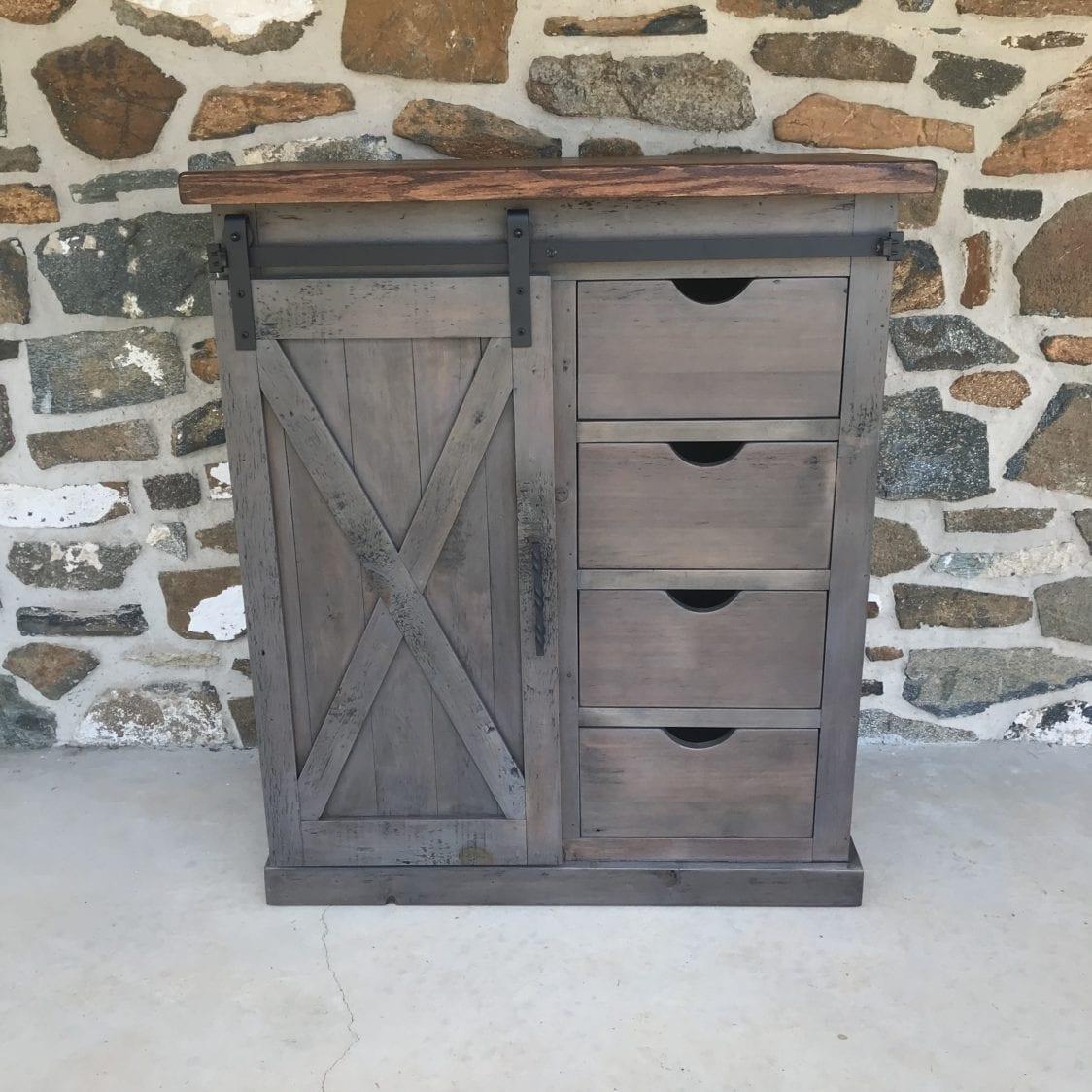 barn door cabinet, mini barn door cabinet, wine cabinet