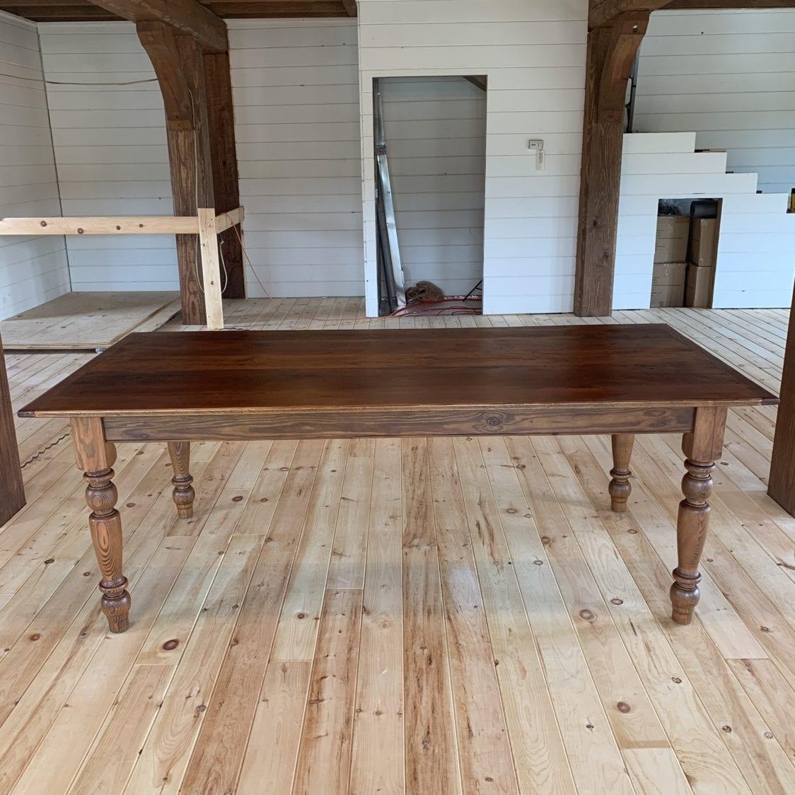 farmhouse table, barnwood table